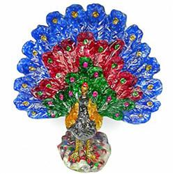 1100ct. Peacock Statue Fancy Color Sapphire & Topaz (GEM-9747)