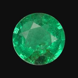 0.19ct Natural Mint Green Zambian Emerald Round  (GEM-20649)