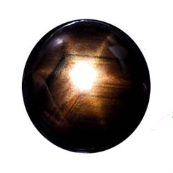 0.56ct Natural Black Star Sapphire 6 Ray Cabochon (GEM-22567A)