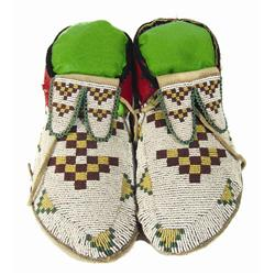 Assiniboine/Cree Beaded Moccasins
