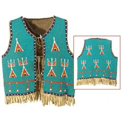Sioux Fully Beaded Boy's Vest