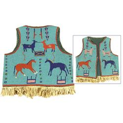 Sioux Beaded Pictorial Vest