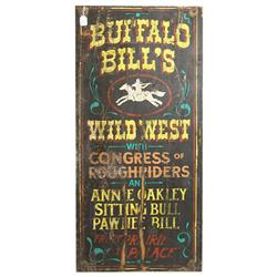 Buffalo Bill Wooden Sign