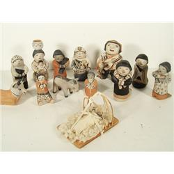 Cochiti Nativity Set - Helen Cordero
