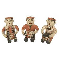 3 Cochiti Pottery Figures - Seferina Ortiz