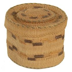 Tlingit Rattle Top Basket - Ida Kadashan