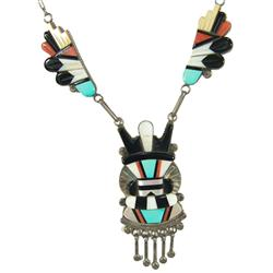 Kachina Pendant Necklace - A. Dewa, Zuni