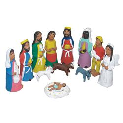 Mexican Folk Art Nativity Set,Josephina Aguilar