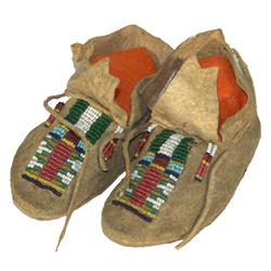 Assiniboine Beaded Baby Moccasins