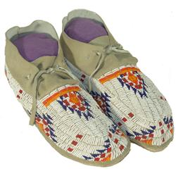Sioux Beaded Men's Moccasins