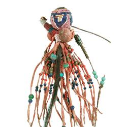 Crow-Style Beaded Medicine Piece