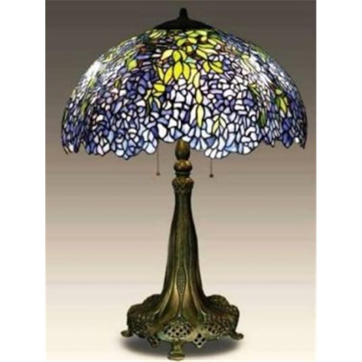 Tiffany table lamp wwisteria shade aloadofball Choice Image