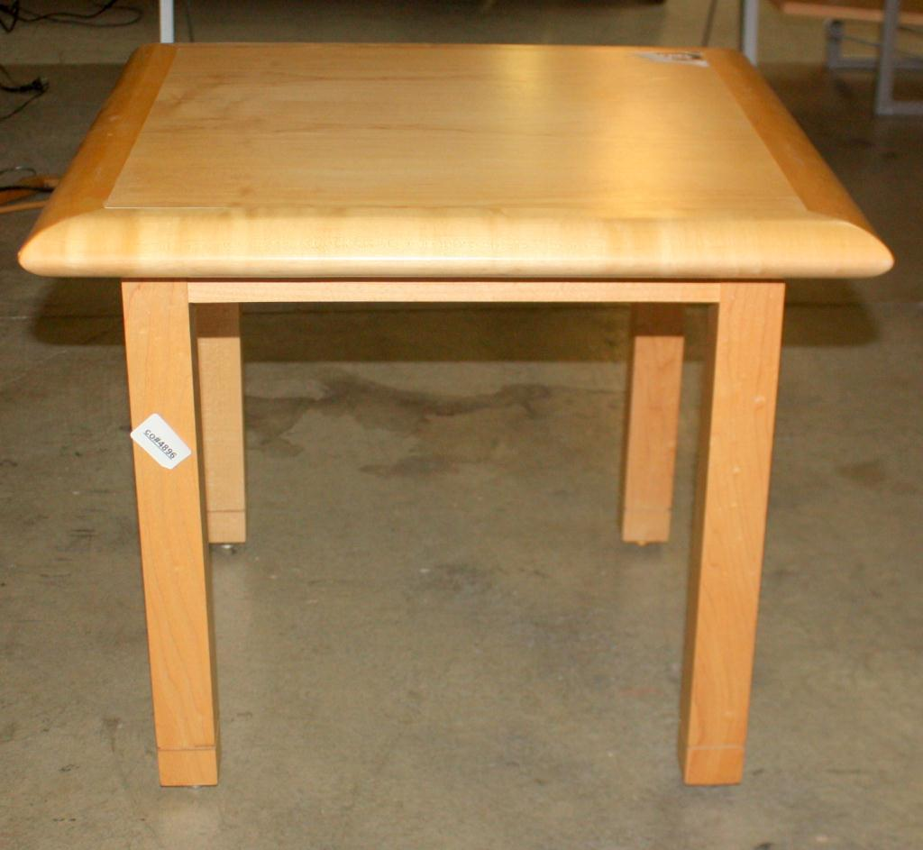 Small wooden table for Petite table industrielle