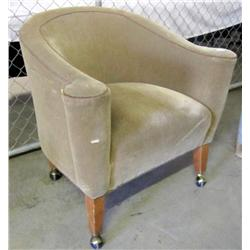Cushioned Chair on Wheels