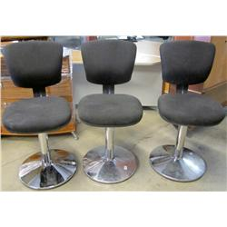 Lot of 3 Swivel Casino Chairs