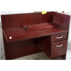 Dark Colored Wooden Desk