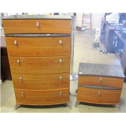Chest of Drawers & Night Stand