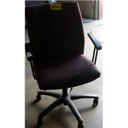 Purple Cushioned Rolling Office Chair