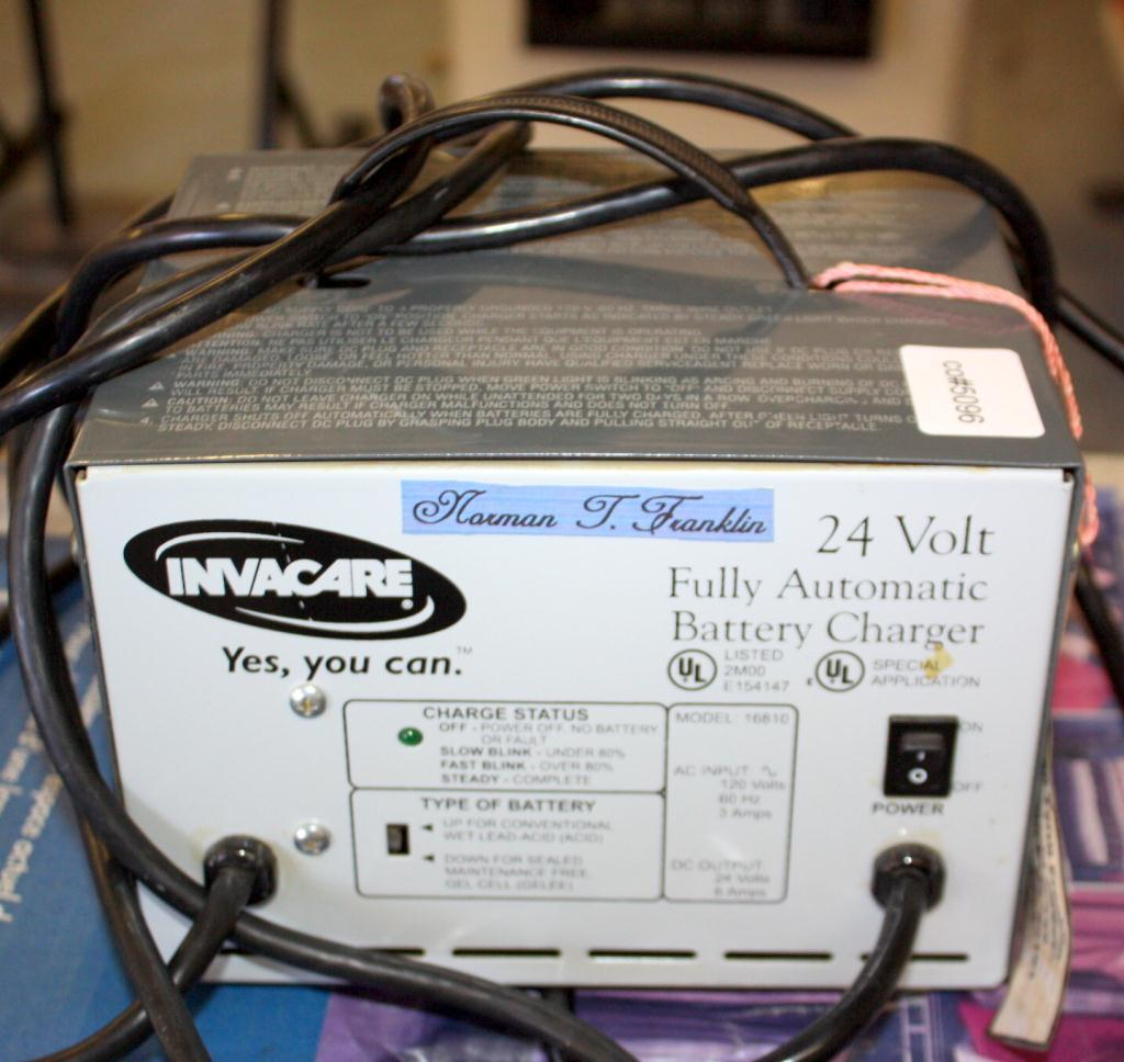 invacare 24 volt fully automatic battery charger. Black Bedroom Furniture Sets. Home Design Ideas