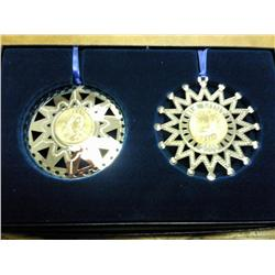 2000 US Mint Limited Edition 2 Ornament Set