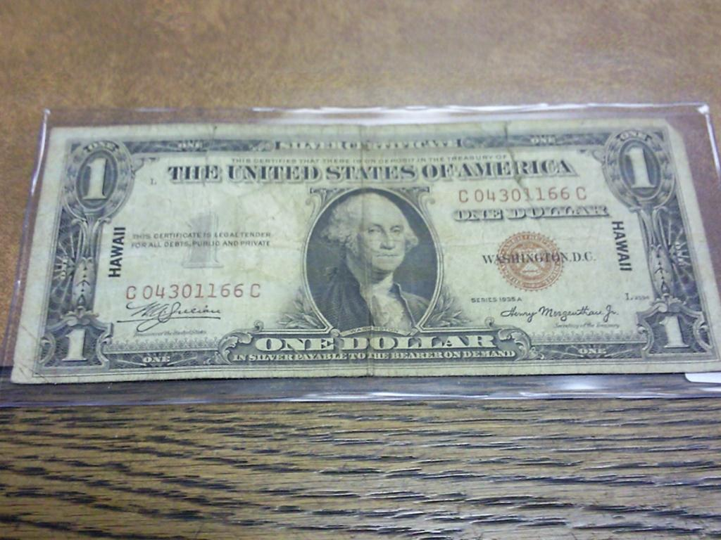1935-A US Dollar Silver Certificate Hawaii