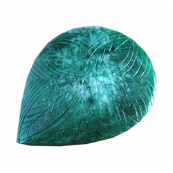 240+ct 100% Natural S. American Emerald Carved Gem (GEM-11350)