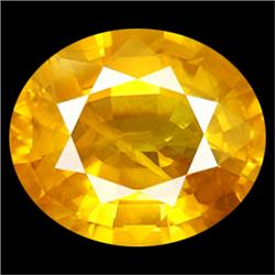 4.5mm Natural Oval Yellow Sapphire Gemstone  (GMR-0873A)