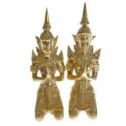 Male & Female Bronze Gilded Temple Guards (CLB-209)