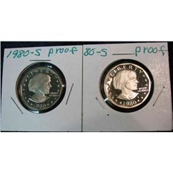 811. (2) 1980S Proof Susan B. Anthony Dollars.