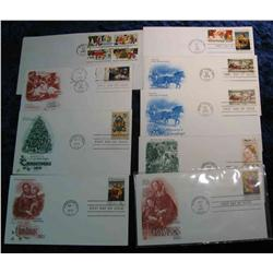 813. (9) 1973-1982 First Day Covers. Christmas