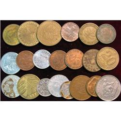 821. (20) Mixed Foreign Coins.
