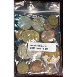 828. (20) Mixed Foreign Coins.
