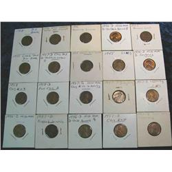 837. (20) 1918-1960 Lincoln Cent Varieties.