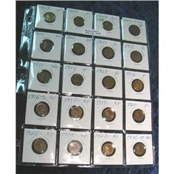 838. (2) 1909P, (2) 09VDB, (2) 10P, (3) 11P, 13P, 14P, 16P, 16S & other Lincoln Cents