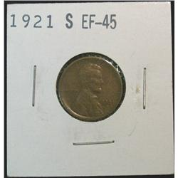 845. 1921S Lincoln Cent. Brown EF.