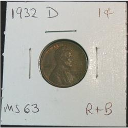 846. 1932D Lincoln Cent. Red & Brown Unc.