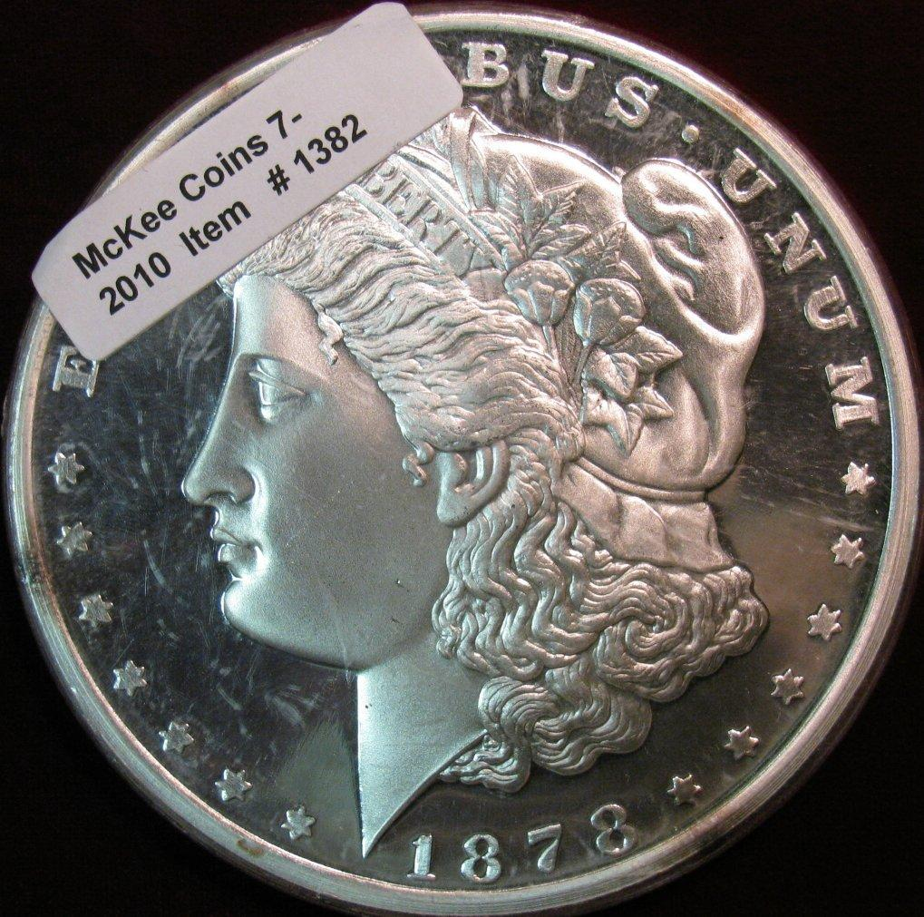 1382 1878 Morgan Dollar One Pound Coin 3 1 2 Quot Diameter