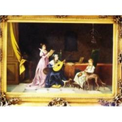 ARISTOCRAT SCENE  BY ANDERSON ON CANVAS
