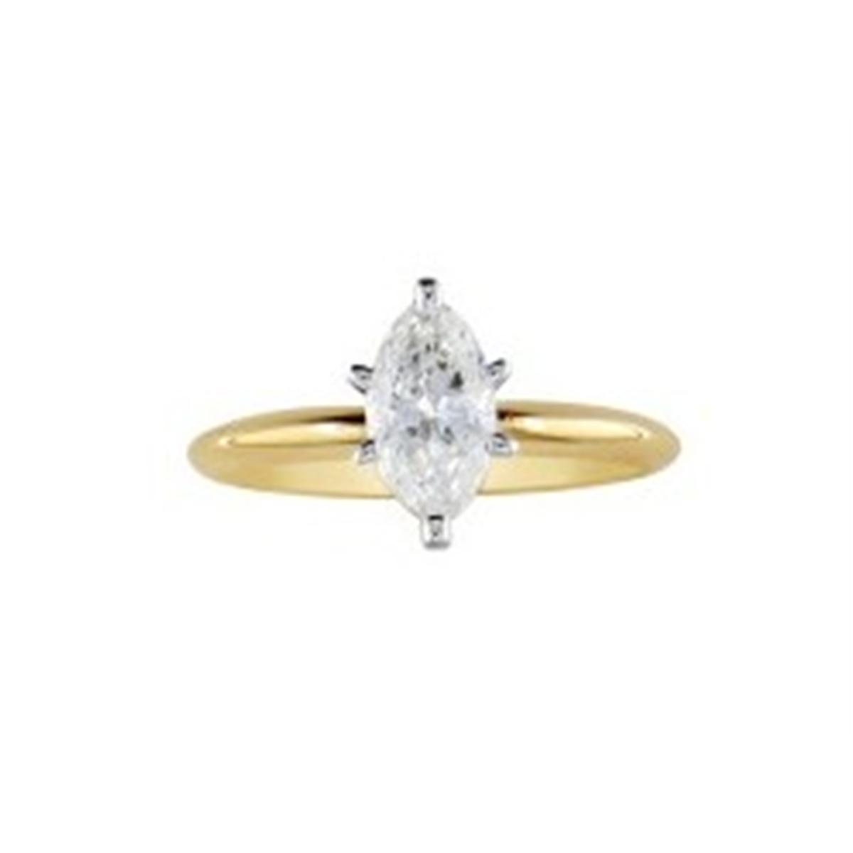 1/4ct Marquise Diamond Solitaire Promise Engagement Ring