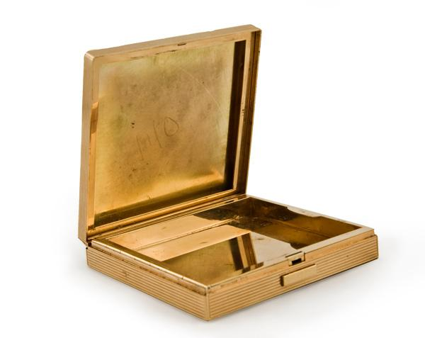 An Art Deco 14K Gold Box by Tiffany & Co