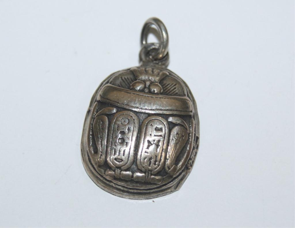Silver egyptian good luck scarab pendant image 1 silver egyptian good luck scarab pendant aloadofball Gallery