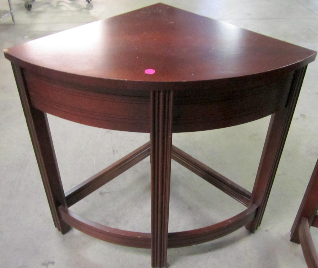 4 corner tables into 1 round table coffee table with rounded