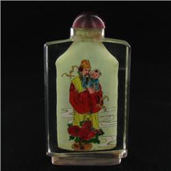 Heavy Beveled Glass Chinese Snuff Bottle (CLB-506)