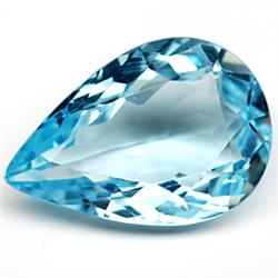 6.04ct TOP GRADE Swiss Blue Pear Topaz (GMR-1011)