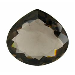30.42ct Gorgeous Shimmering Smoky Quartz Pear Cut (GEM-21780)