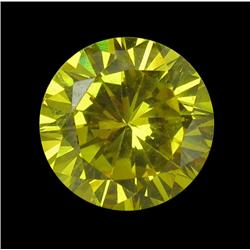 3.46ct Round Yellow Lab Diamond 8mm (GEM-22003D)