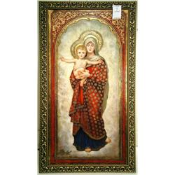 Virgin Maryw/Christ; Artist: Diana Mendoza