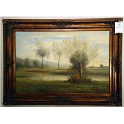 Cottage Landscape; Artist: Pether