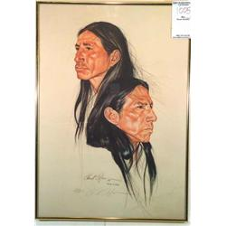 Native Americans in Profile  II; Artist: Chuck Wilson