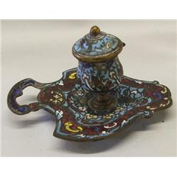 Antique Cloisonne' Inkwell